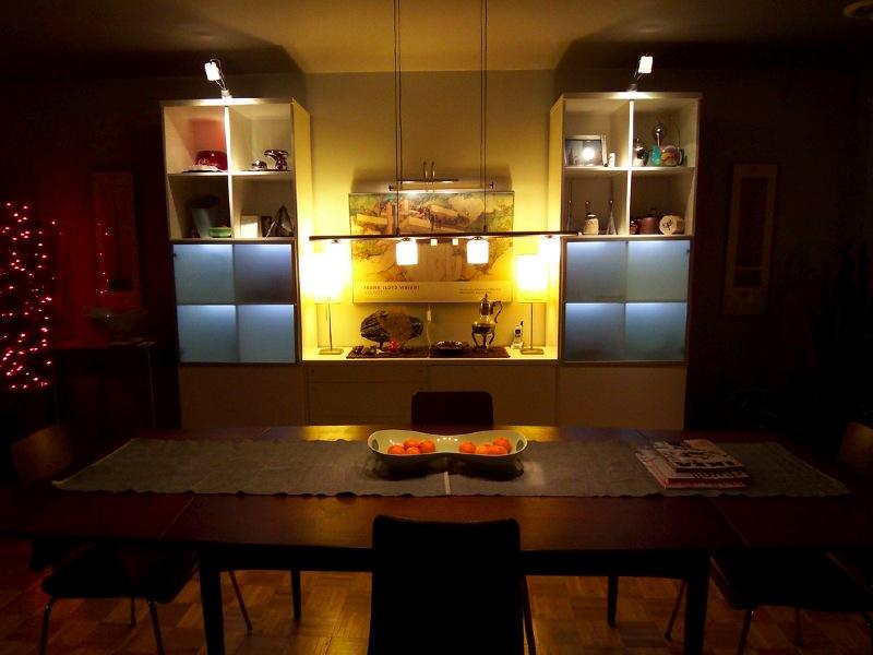 ダイニングの小さな沢山の照明 雰囲気と実用性の両立 住宅デザイン